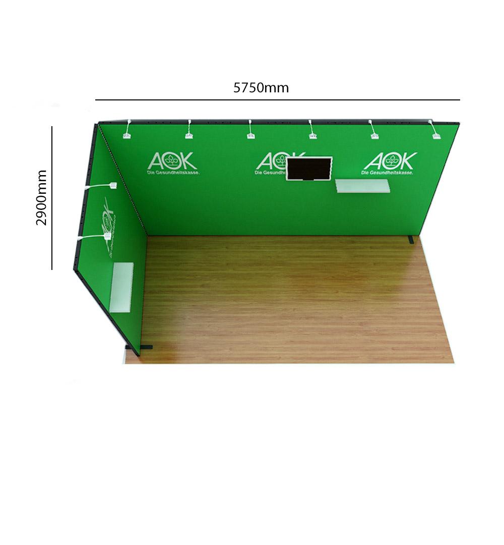 Messestand Multi-Frame L6 Form - Abmessungen