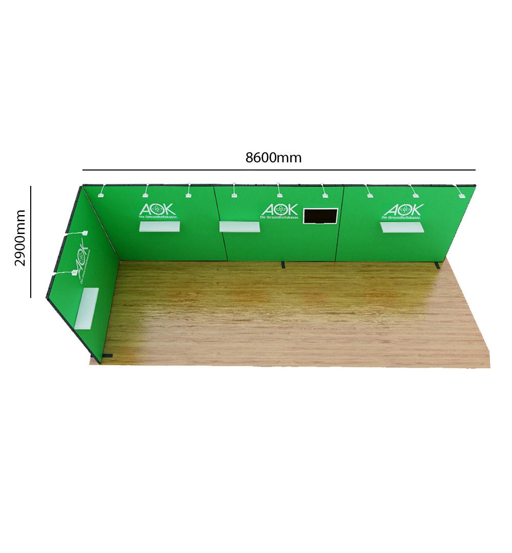 Messestand Multi-Frame L7 Form - Abmessungen