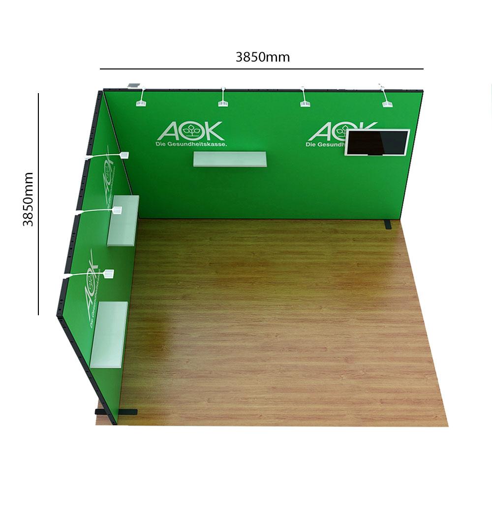 Messestand Multi-Frame L8 Form - Abmessungen