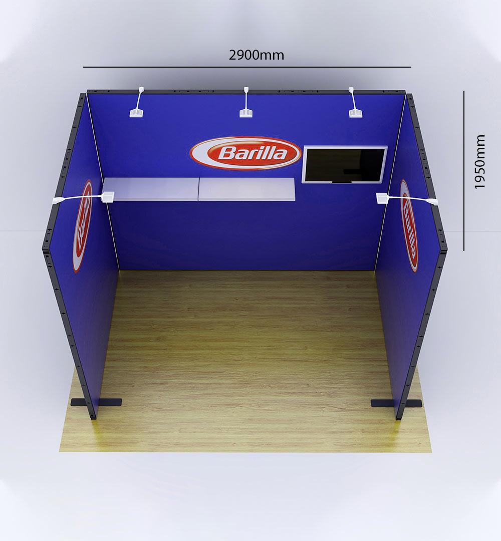 Messestand Multi-Frame U1 Form - Abmessungen