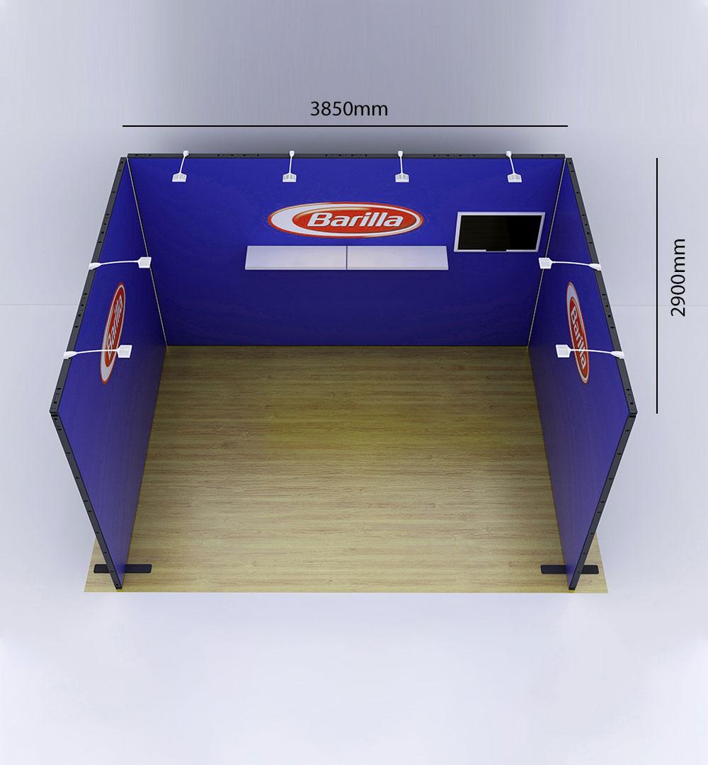 Messestand Multi-Frame U3 Form - Abmessungen