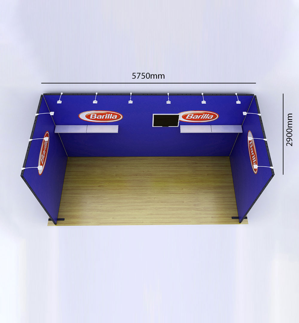 Messestand Multi-Frame U4 Form - Abmessungen