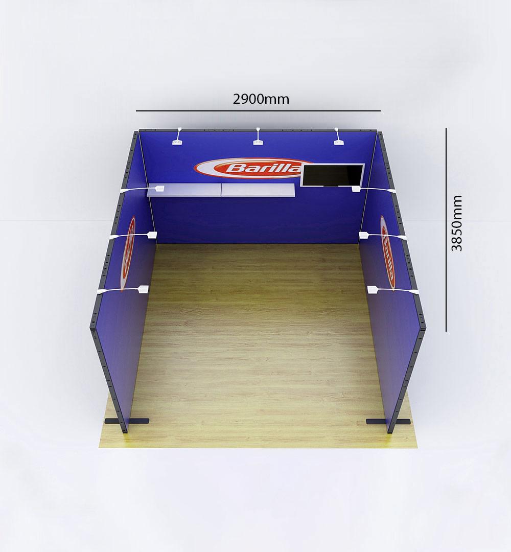 Messestand Multi-Frame U5 Form - Abmessungen