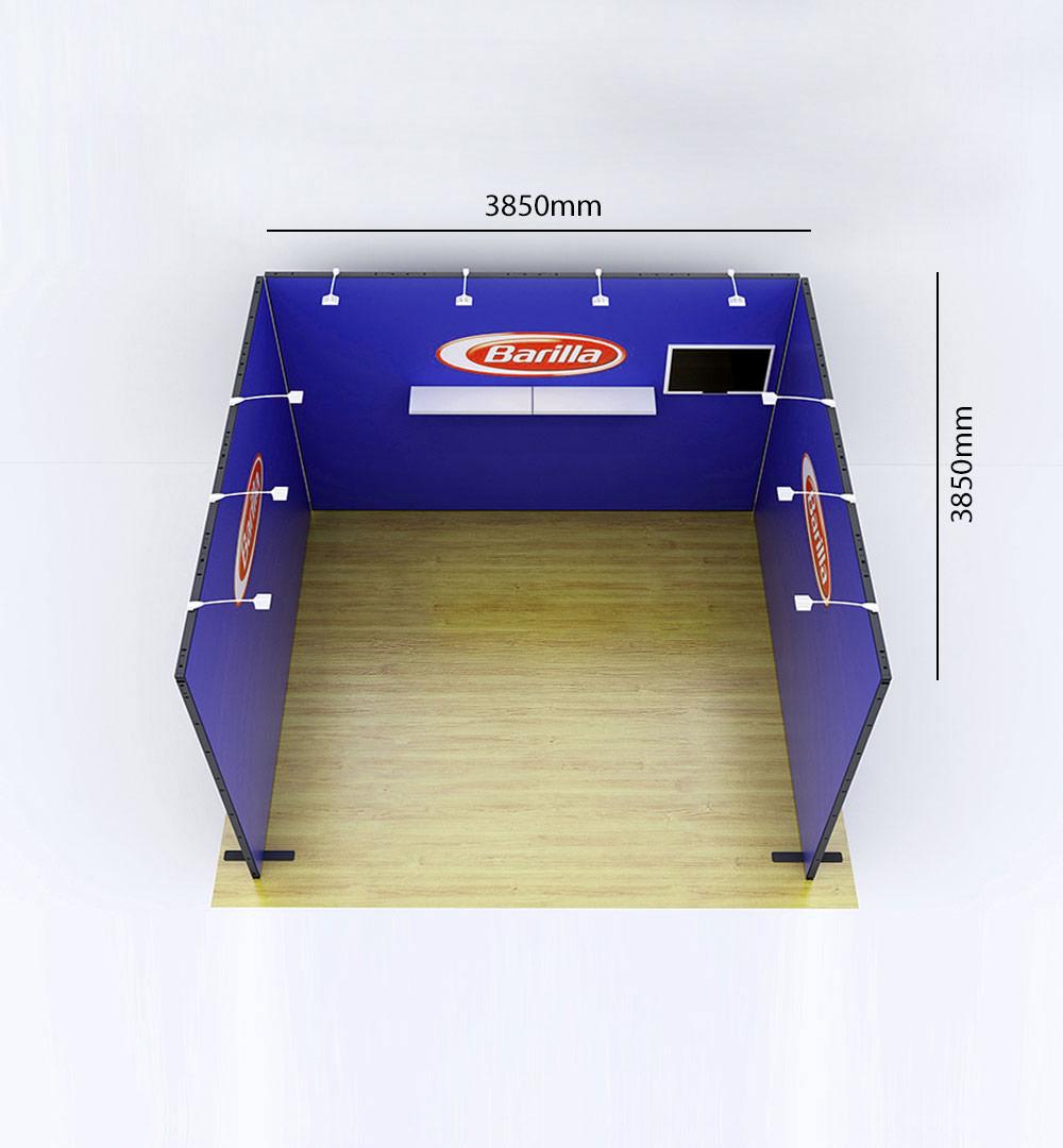 Messestand Multi-Frame U6 Form - Abmessungen