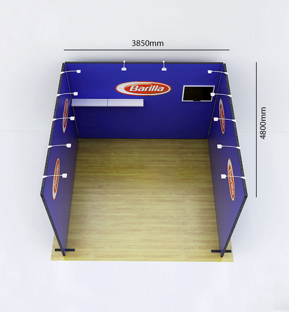 Messestand Multi-Frame U8 Form - Abmessungen