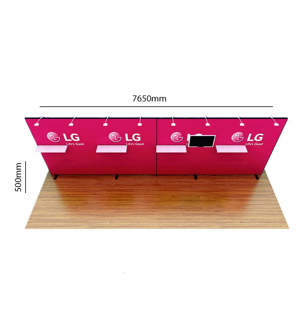 Messestand Multi-Frame W8 Form - Abmessungen