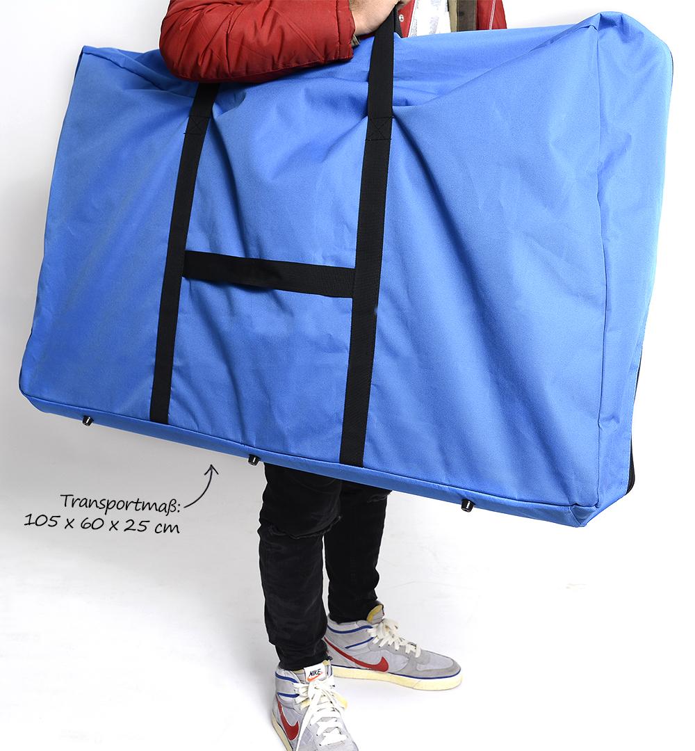 Rechtecktheke geteilt - Transporttasche Einsatz