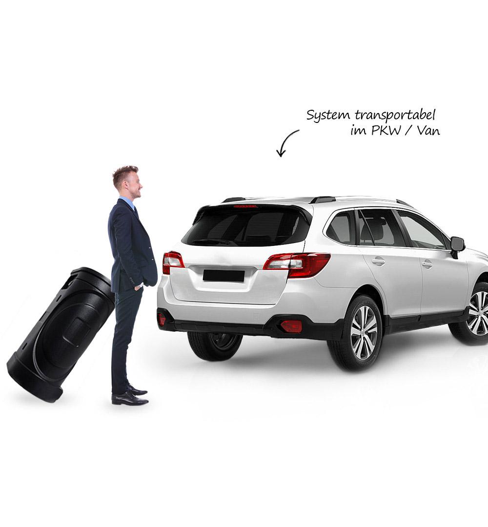 Mobiler Messestand - Transport