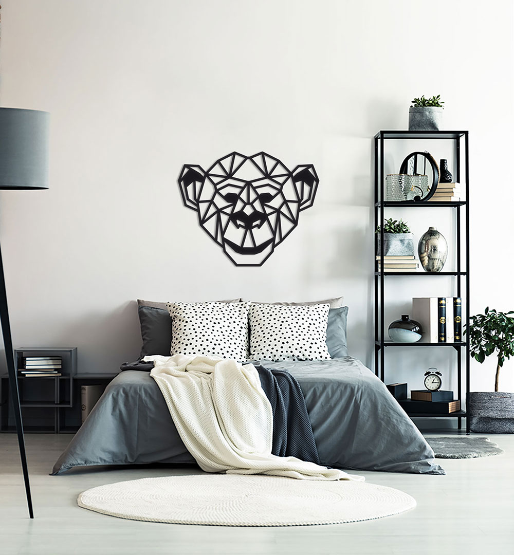 Wall Art Acryl Polygon Affe