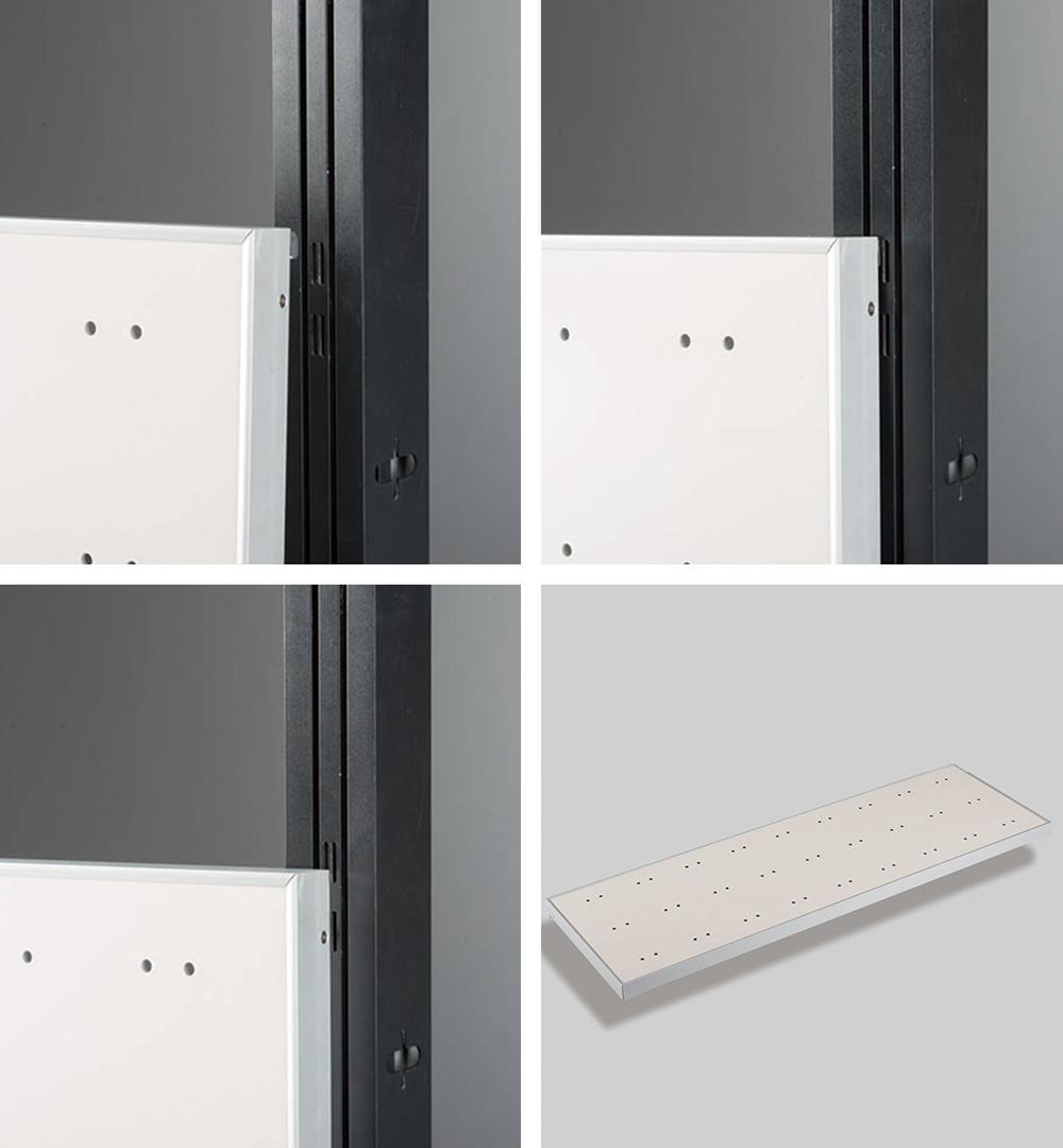 Messestand Multi-Frame - Montage Displaypaneel