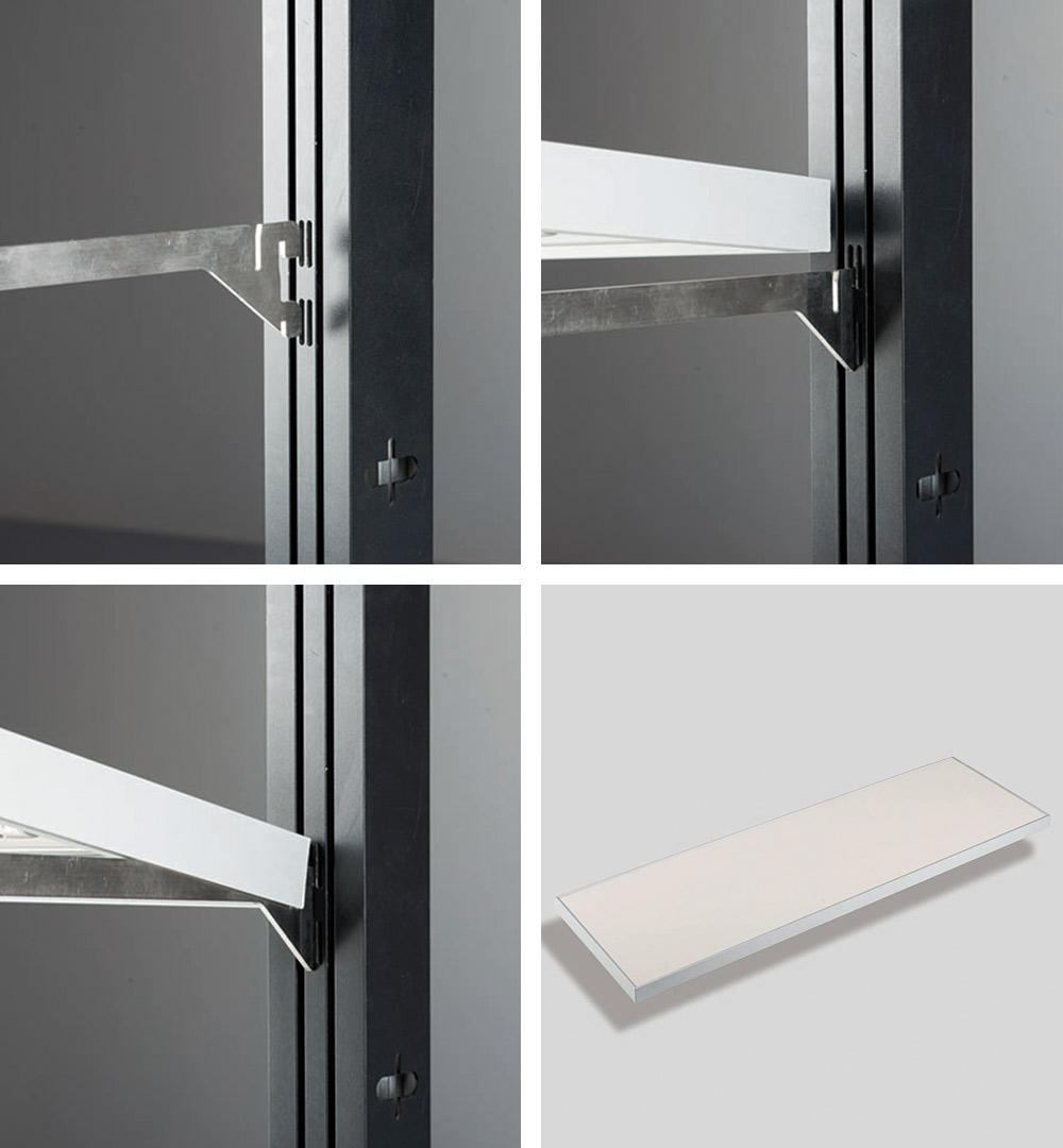Messestand Multi-Frame - Montage Schrank