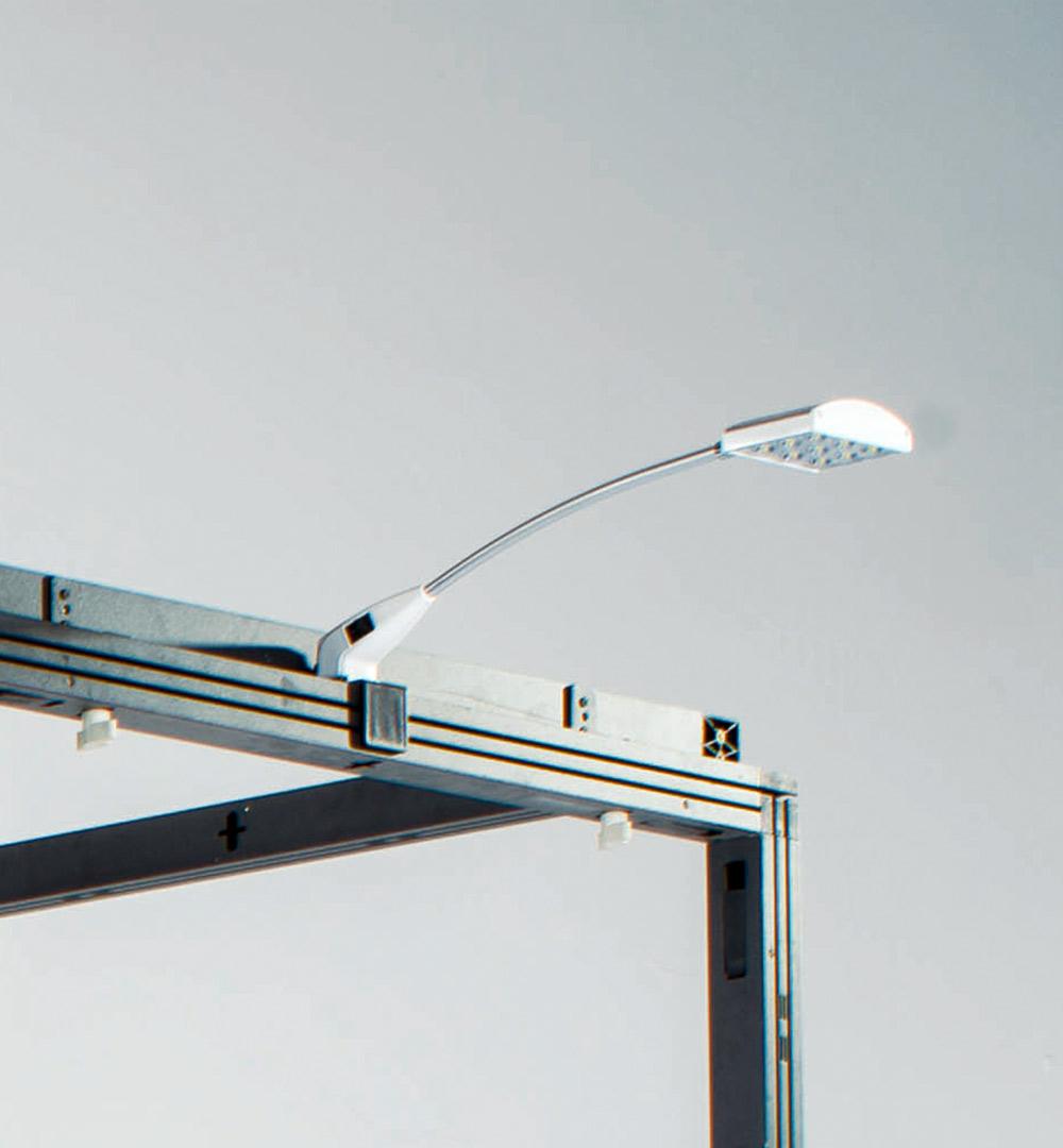 Messestand Multi-Frame - LED-Strahler