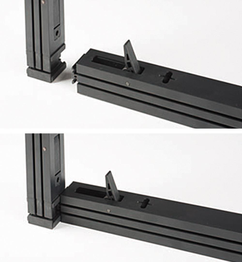 Messestand Multi-Frame - Verbindung Steckprofil