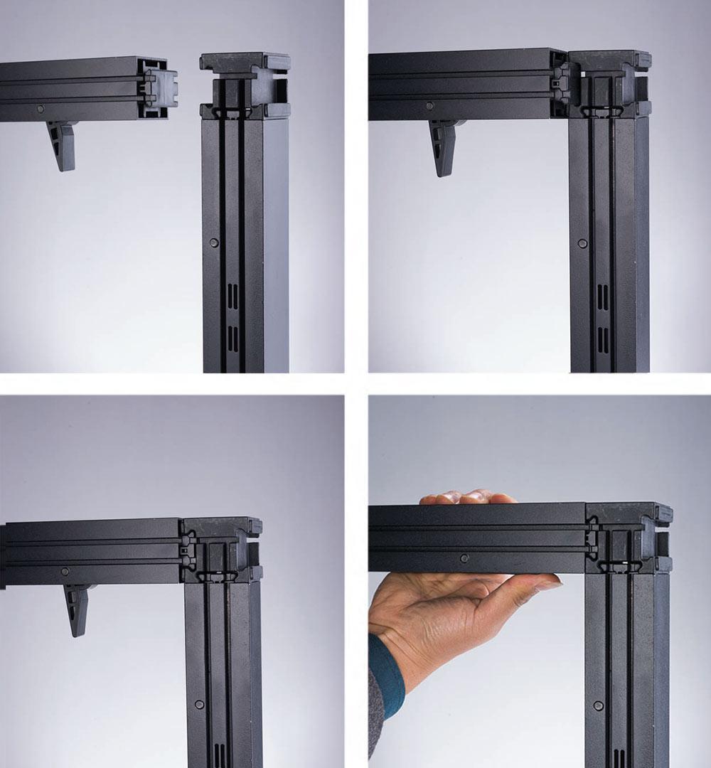 Messestand Multi-Frame - Verbindung Steckprofil 3