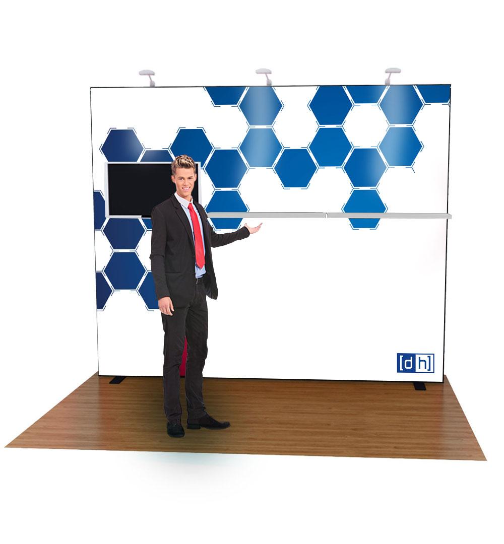 Messestand Multi-Frame W3 Form - live