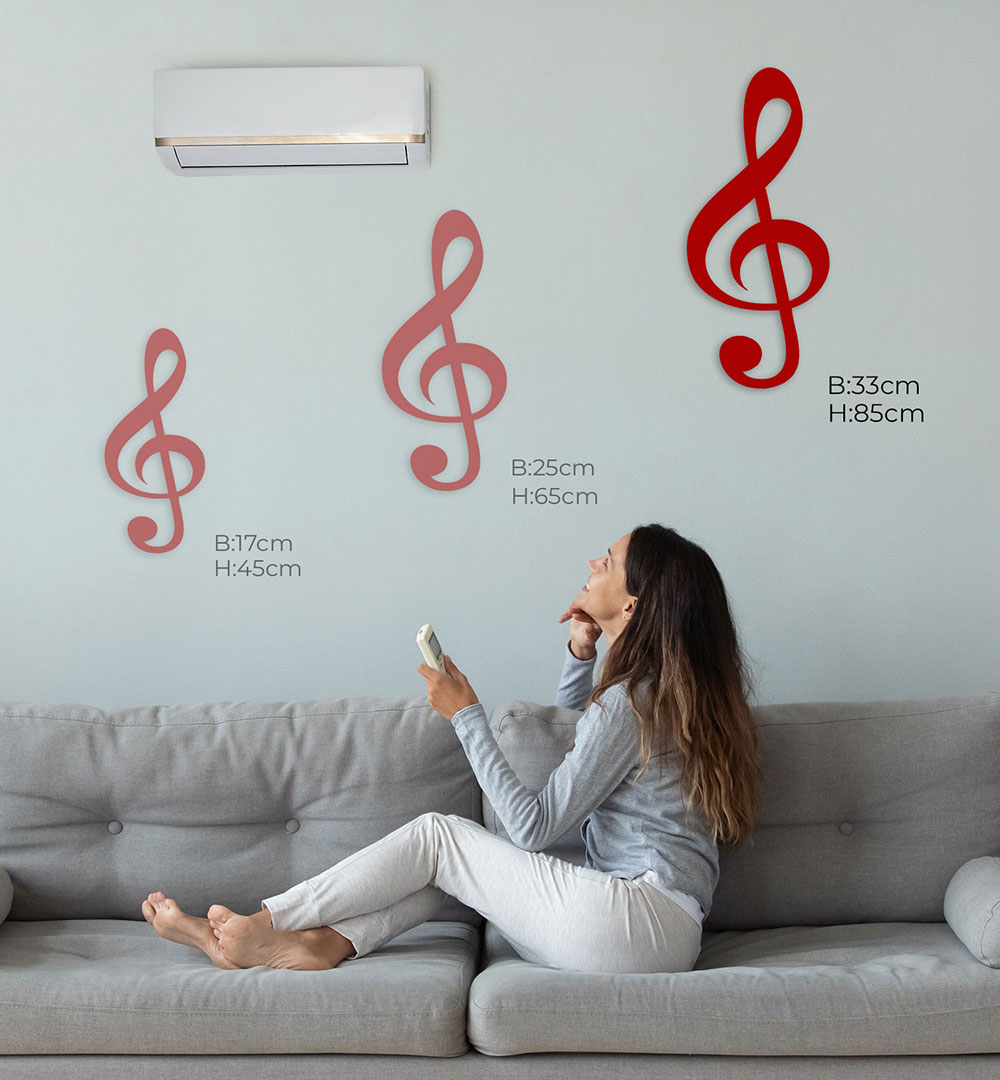 Wall Art Acryl Polygon Notenschlüssel