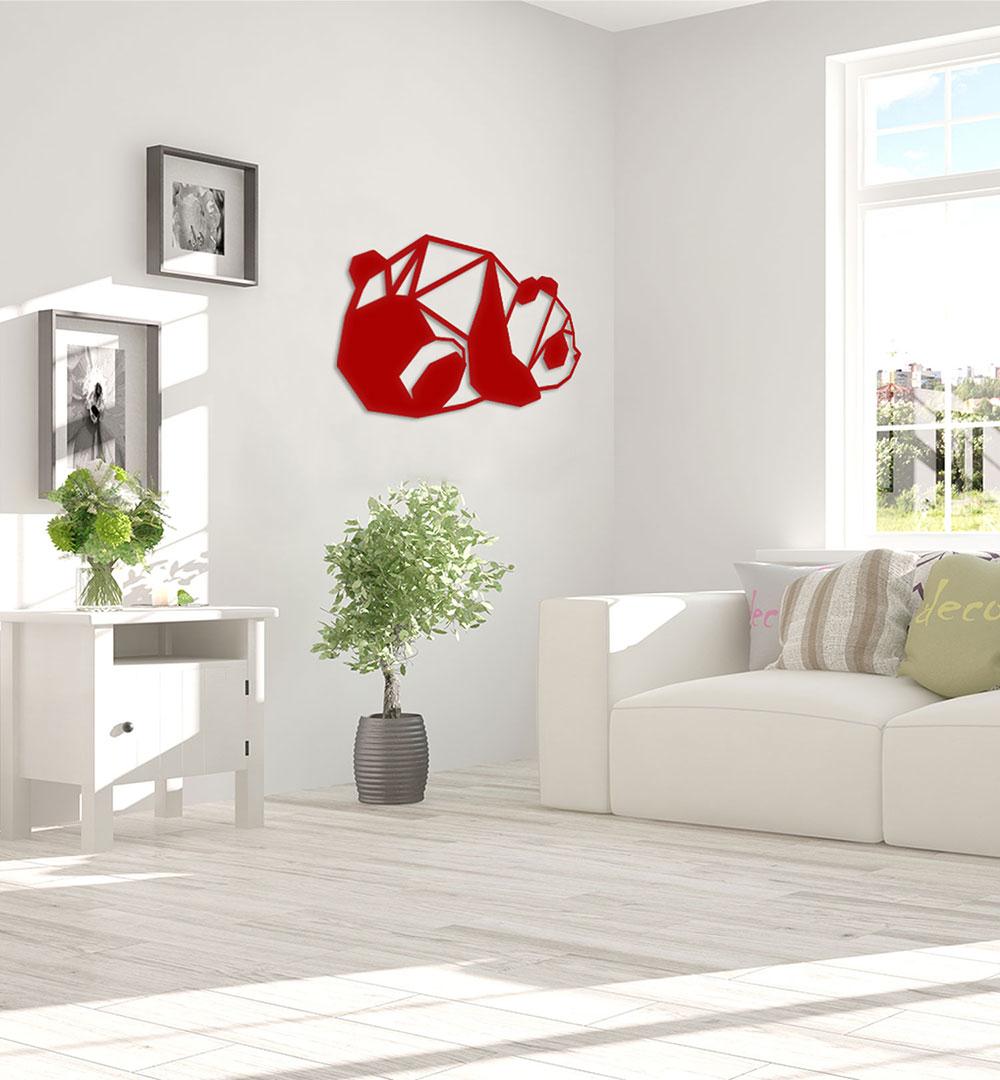 Wall Art Acryl Polygon Panda