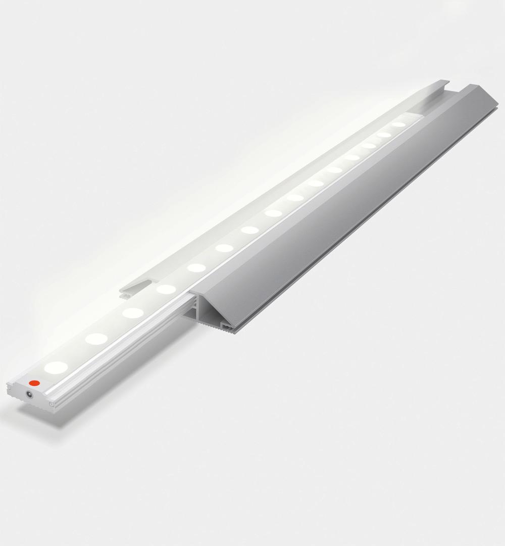 PIXLIP GO Counter Outdoor - Profil mit LED Leiste
