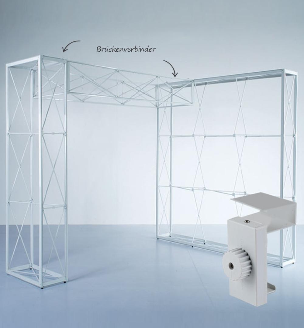 Messestand Faltdisplay Pop-Up MODULAR - Verbinder Brücke
