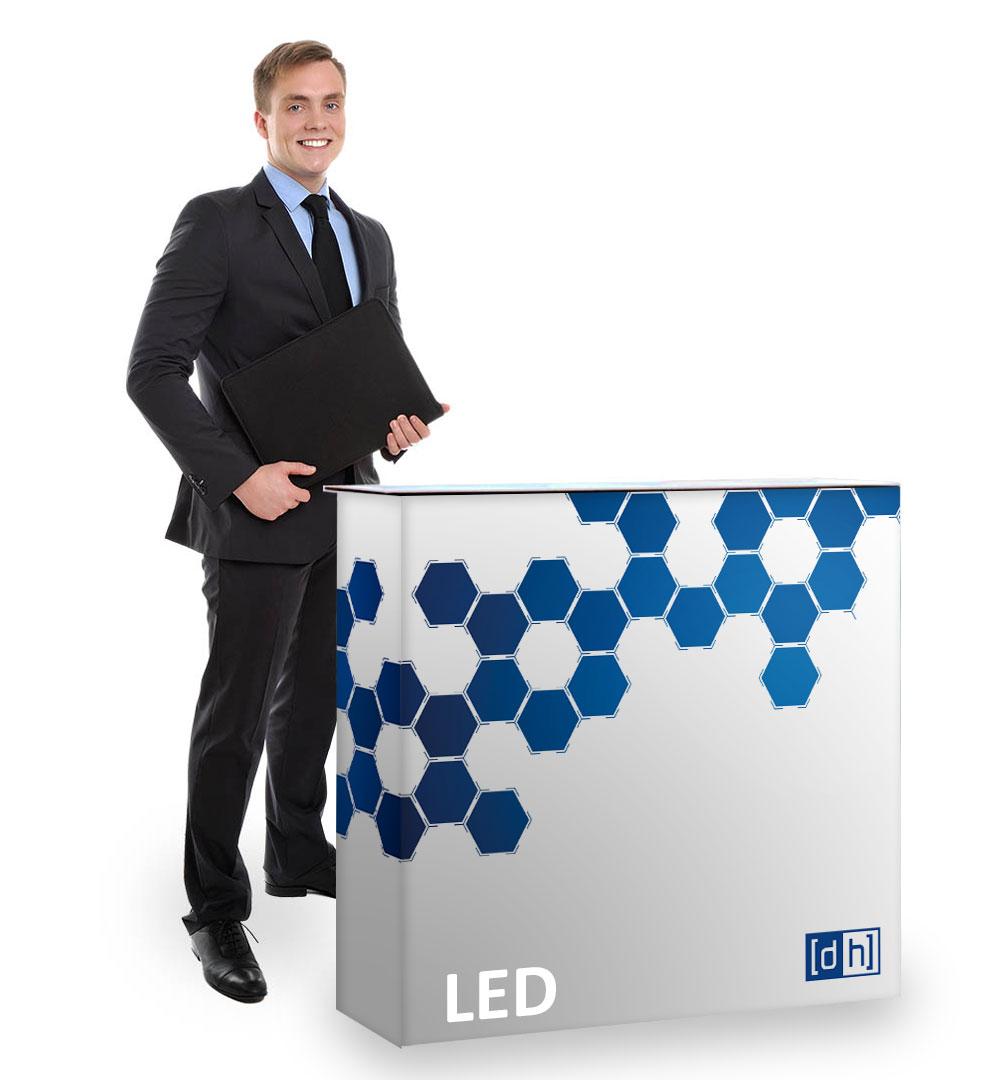 Pop-Up Modular Theke mit LED Hinterleuchtung - Live