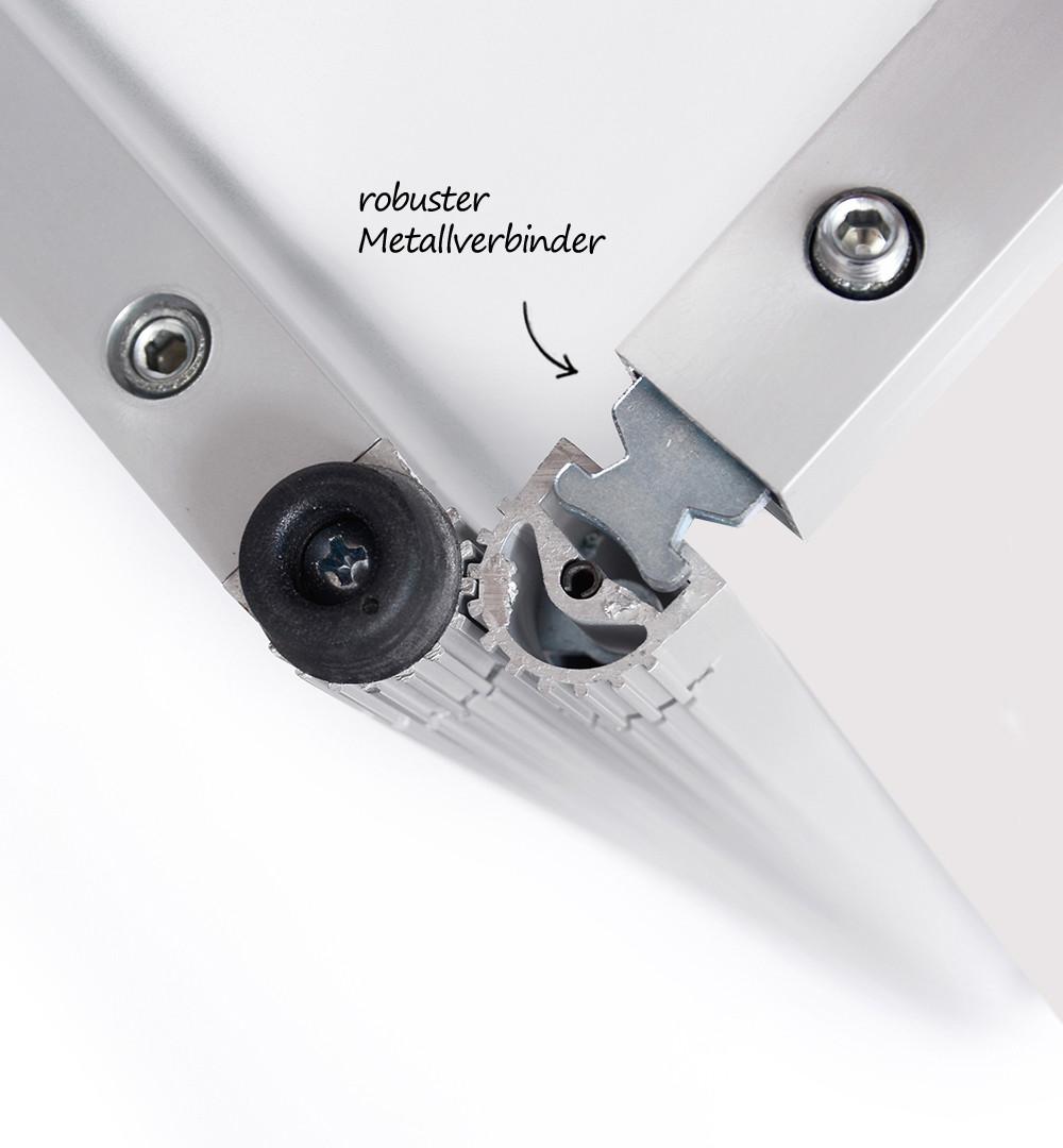 Rechtecktheke geteilt - Metallverbinder