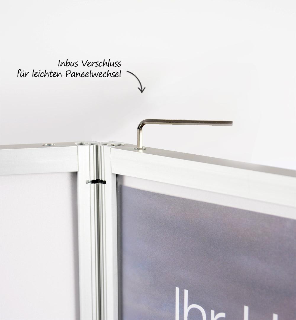 Faltwand Wien small - Paneelwechsel Inbus Verschluss
