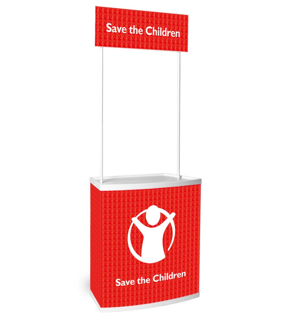 Promo Kunststofftheke - mit Topschild