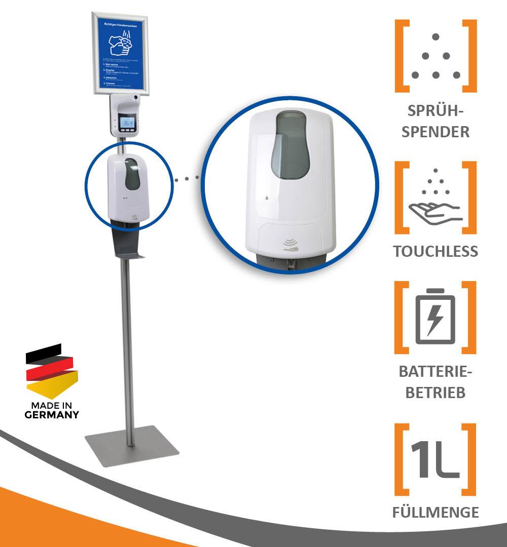 Desinfektionsständer Q Thermo mit Sensor