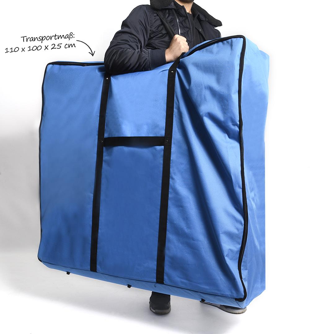 Messestand Faltwand Textil Evolution - Theke Transporttasche