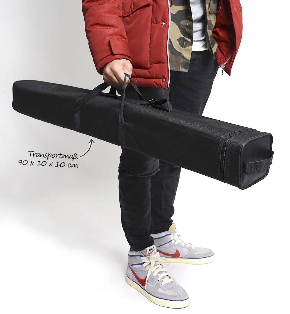 Roll-Up Budget  mit Tasche