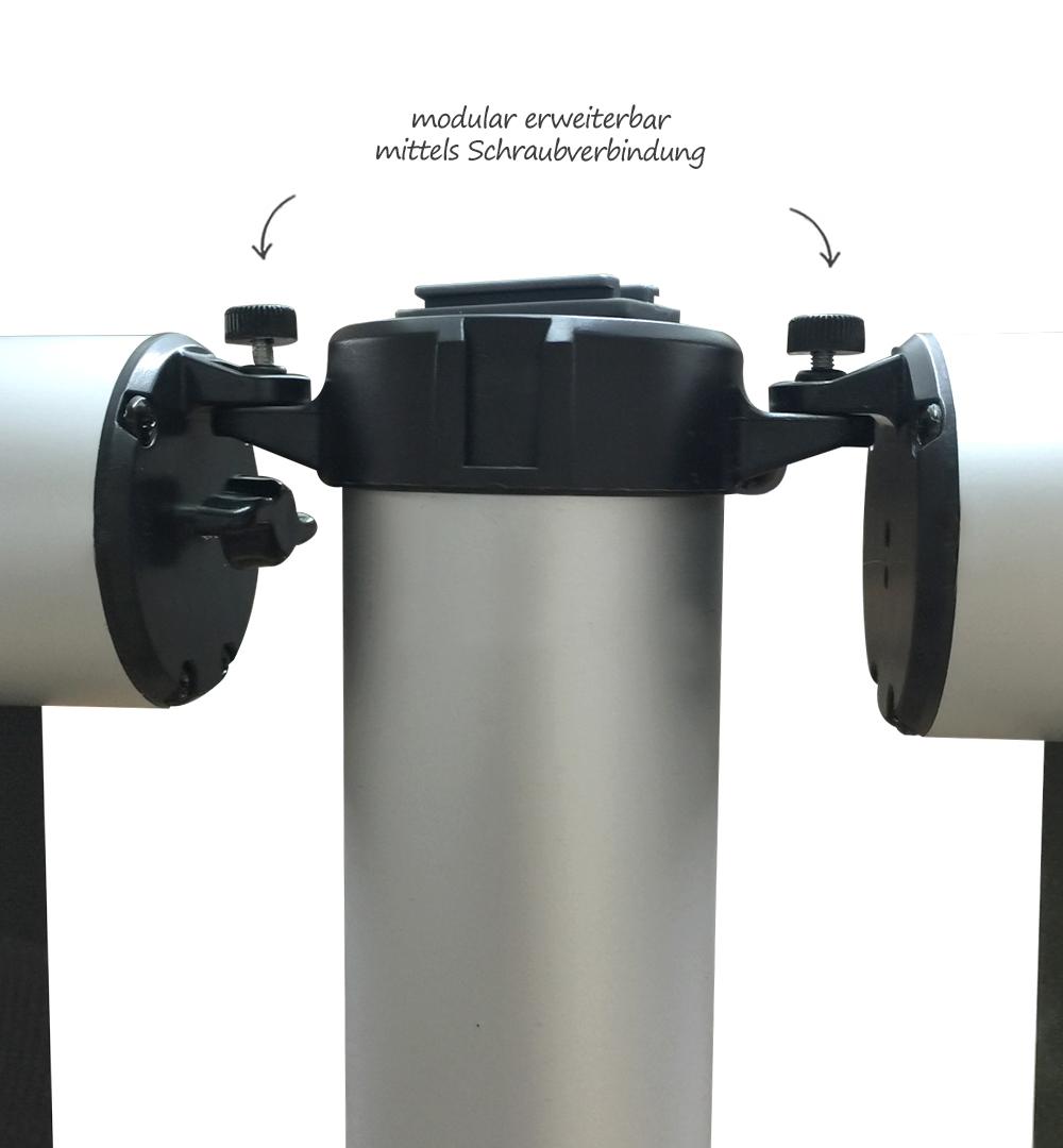 Messestand Roll-Up Modular - modular erweiterbar