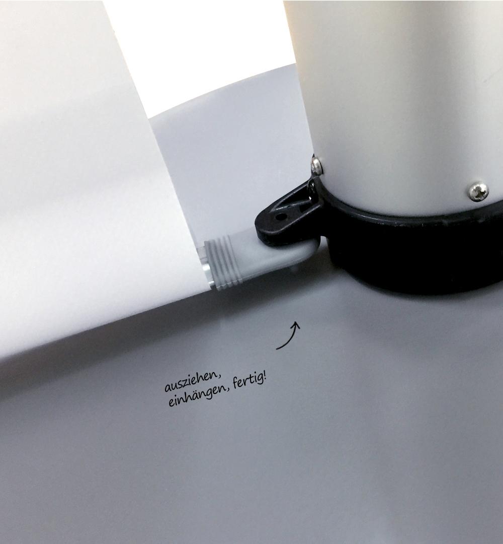 Messestand Roll-Up Modular - simpler Aufbau