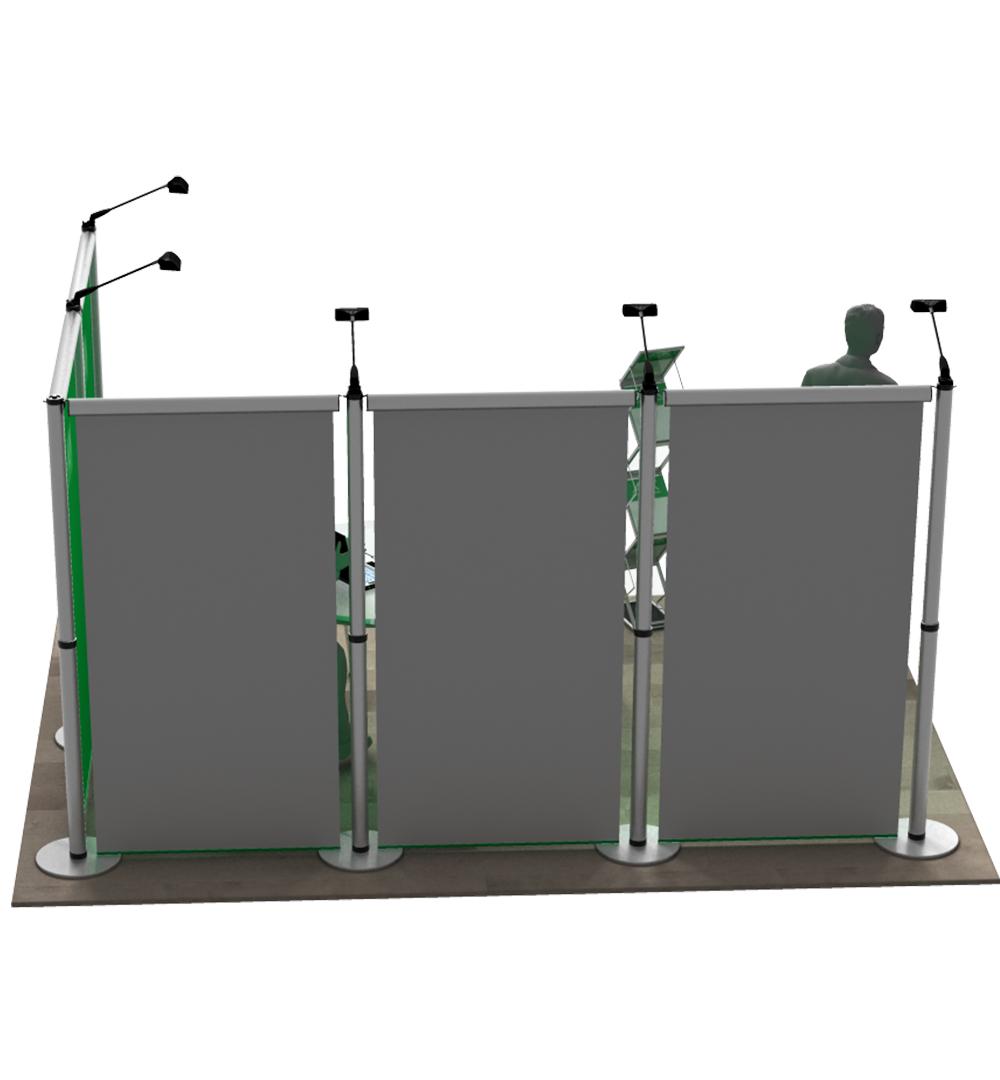 Messestand Roll-Up Modular L2 Form - Rückseite