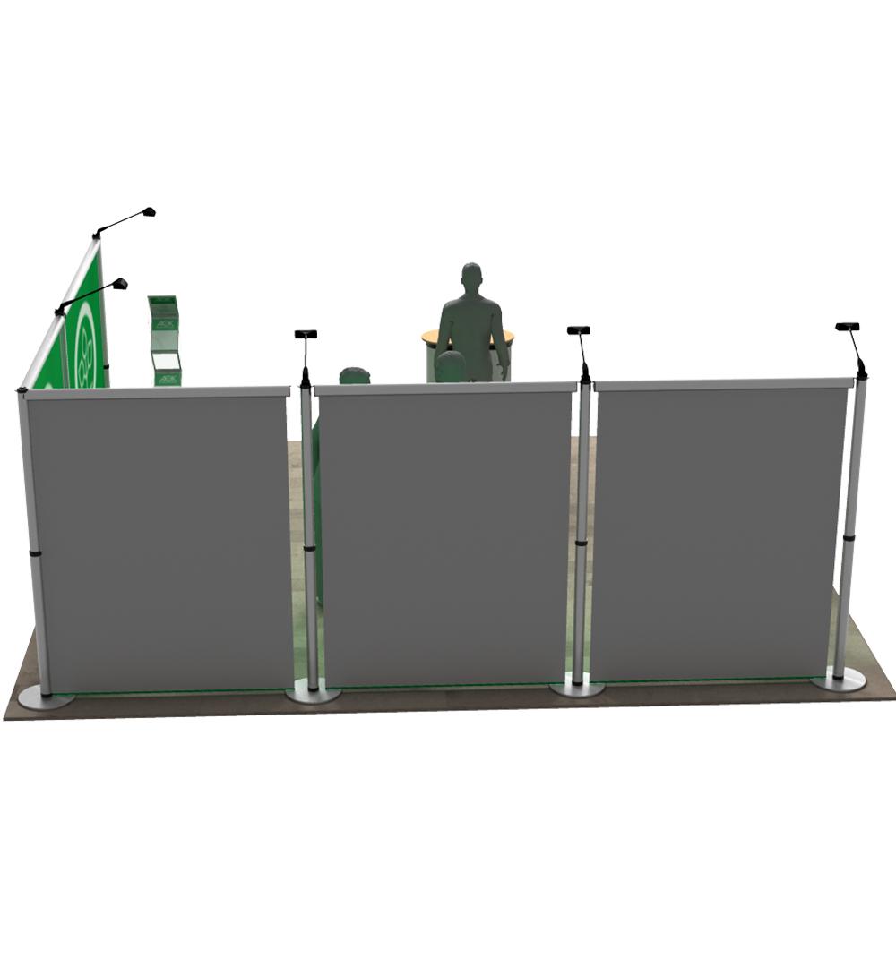 Messestand Roll-Up Modular L3 Form - Rückseite