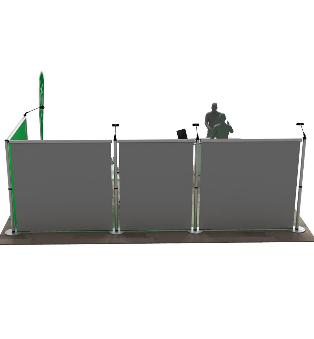 Messestand Roll-Up Modular L4 Form - Rückseite
