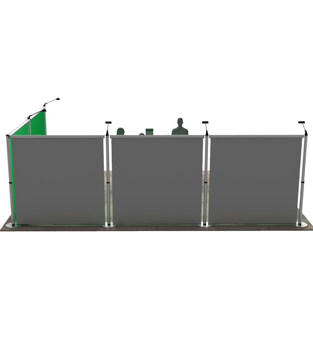 Messestand Roll-Up Modular L5 Form - Rückseite