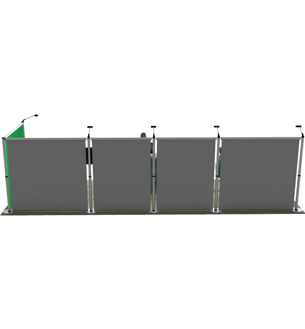 Messestand Roll-Up Modular L6 Form - Rückseite