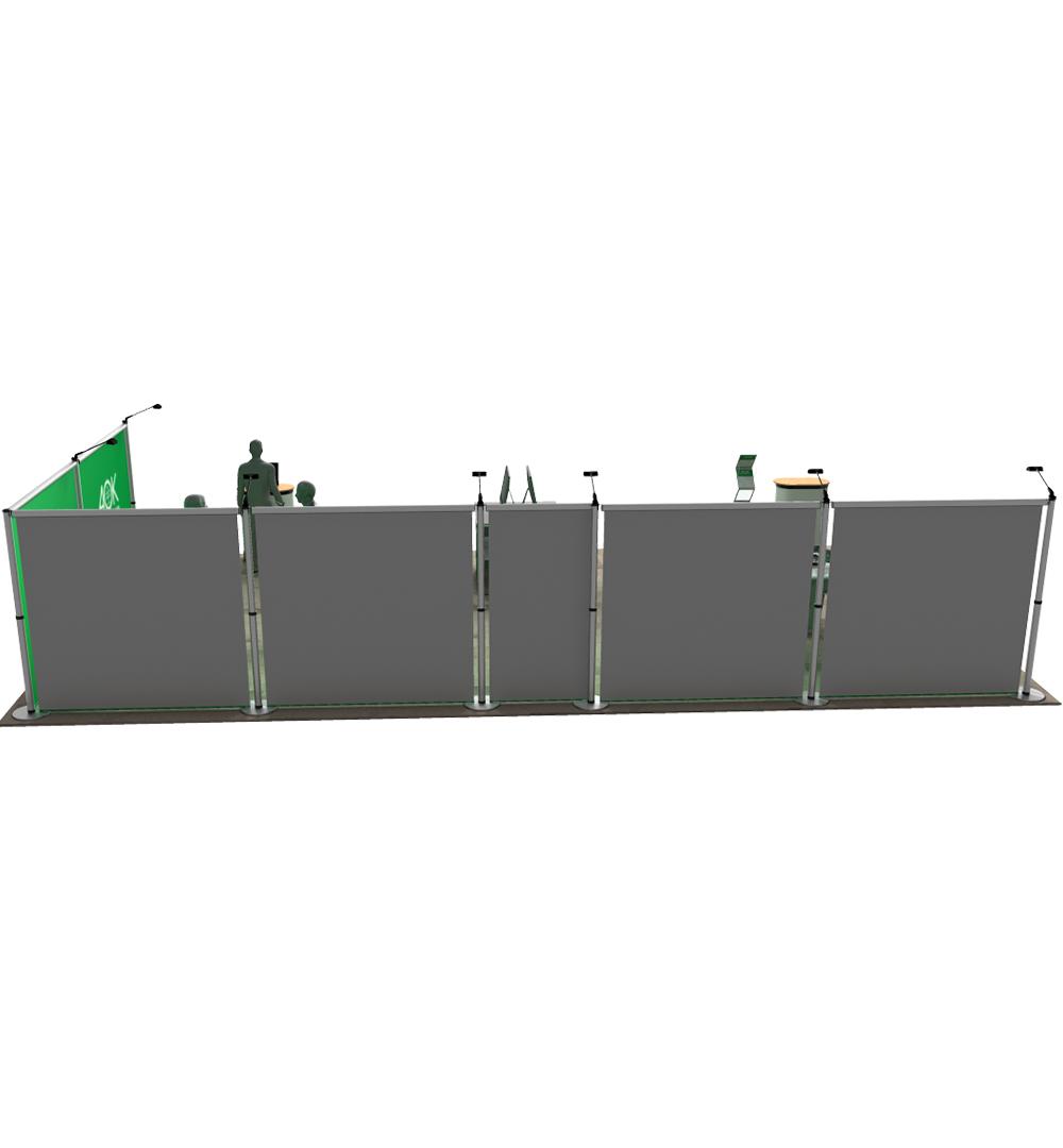 Messestand Roll-Up Modular L7 Form - Rückseite
