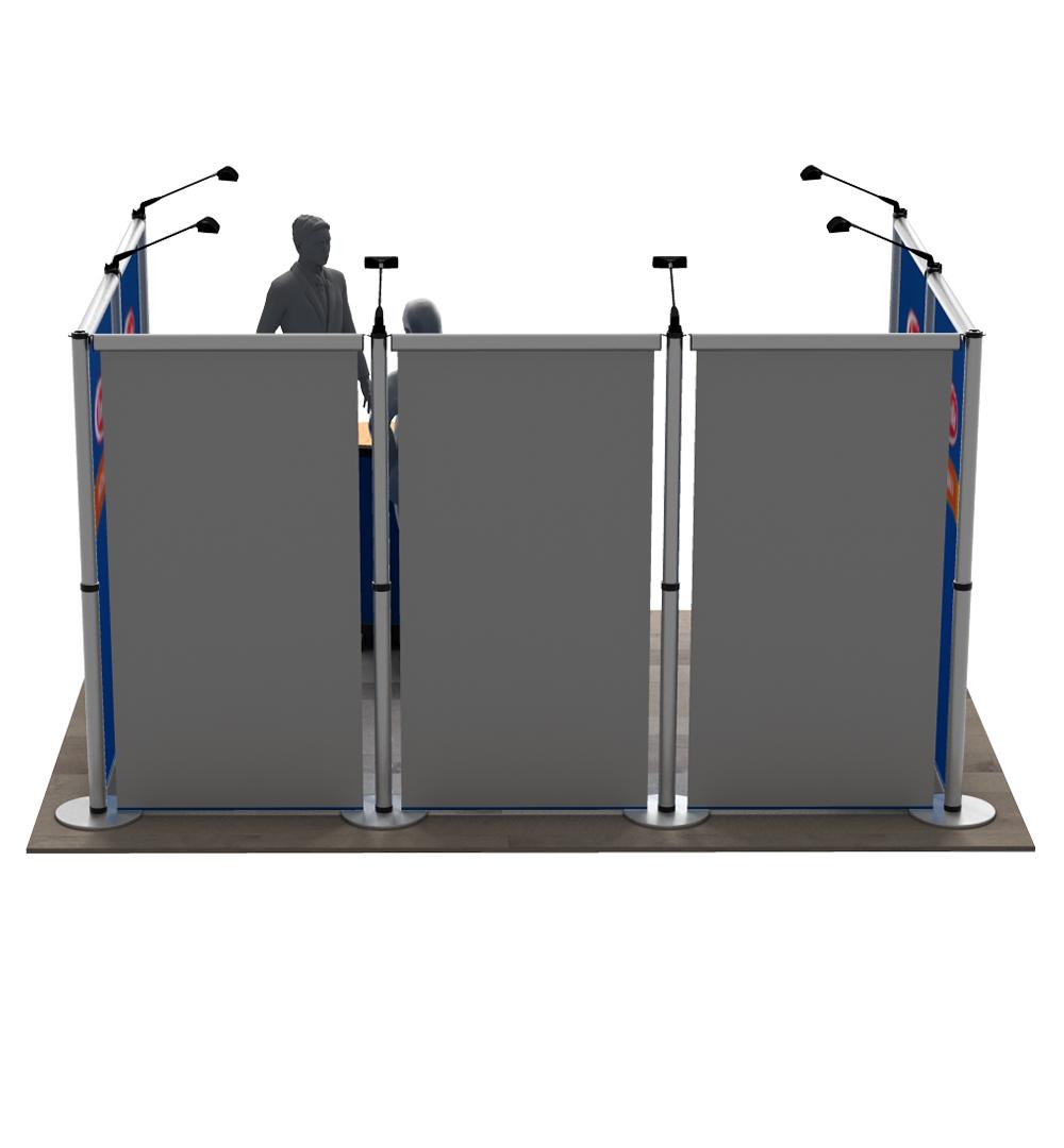 Messestand Roll-Up Modular U2 Form - Rückseite