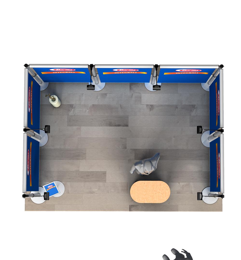 Messestand Roll-Up Modular U2 Form - Draufsicht