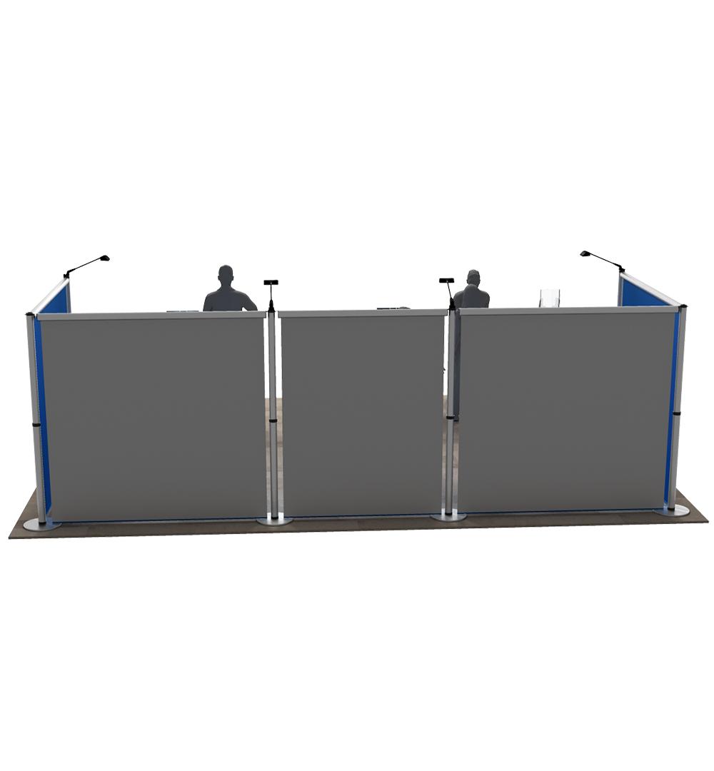 Messestand Roll-Up Modular U4 Form - Rückseite