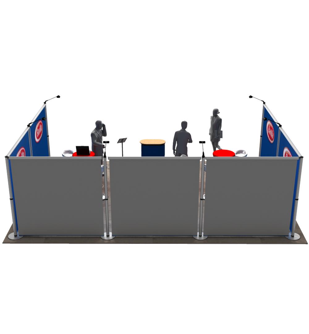 Messestand Roll-Up Modular U5 Form - Rückseite
