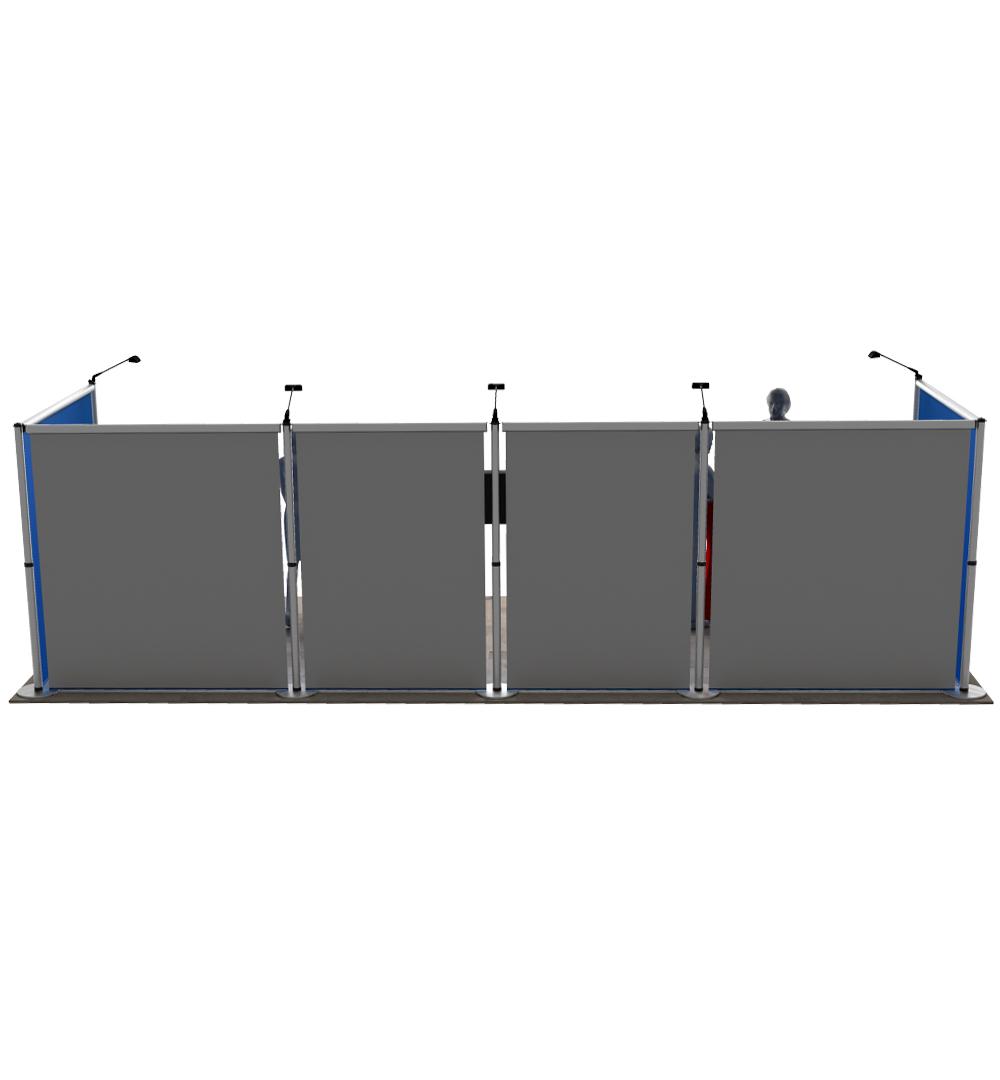 Messestand Roll-Up Modular U6 Form - Rückseite