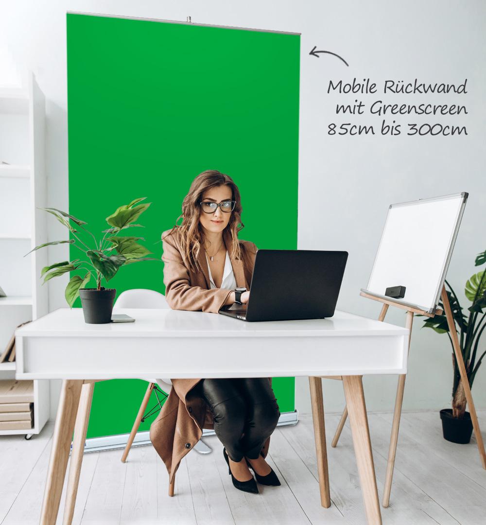 Roll Up Standard Greenscreen - live