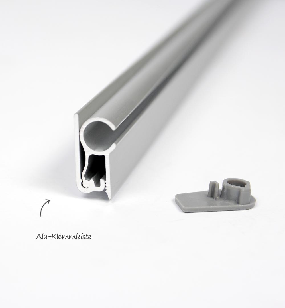 Mobiler Spuckschutz Roll Up Standard mit Folie Transparent 850 x 2100 mm