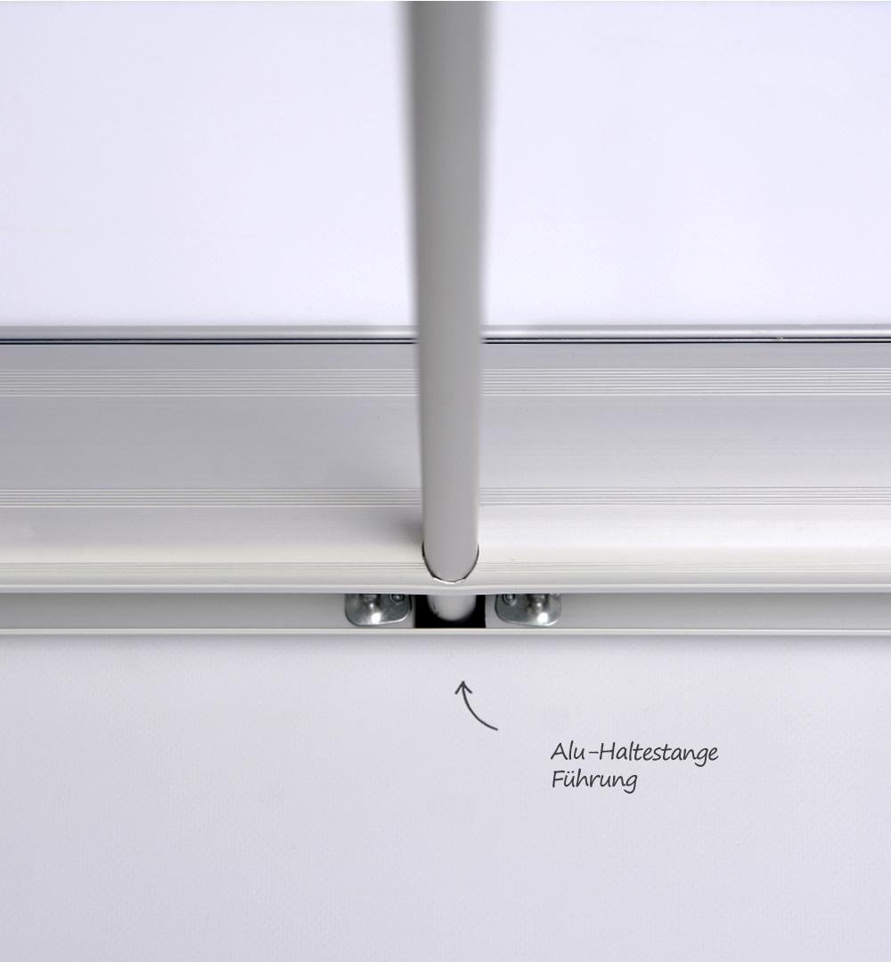 Mobiler Spuckschutz Roll Up Standard mit Folie Transparent bedruckt 1000 x 2100 mm