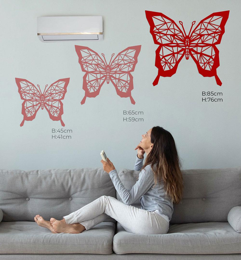 Wall Art Acryl Polygon Schmetterling