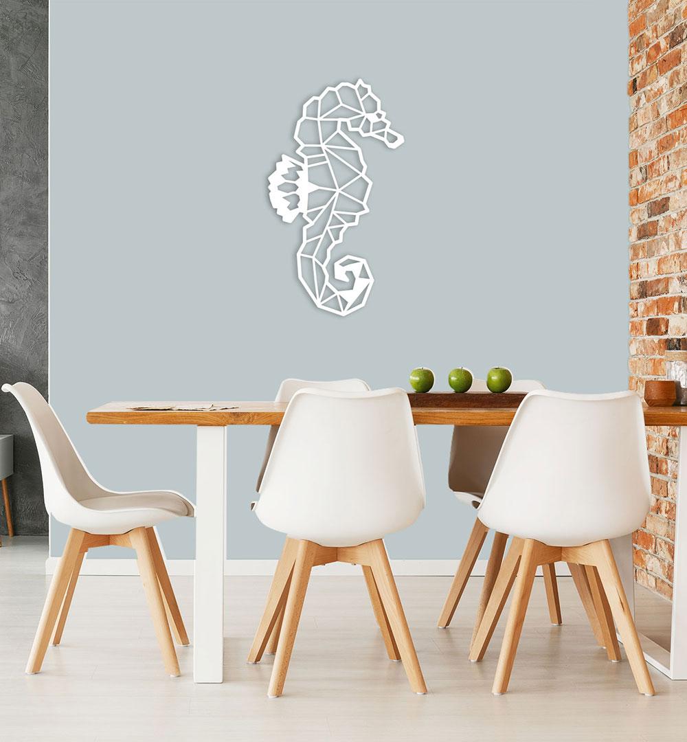 Wall Art Acryl Polygon Seepferdchen