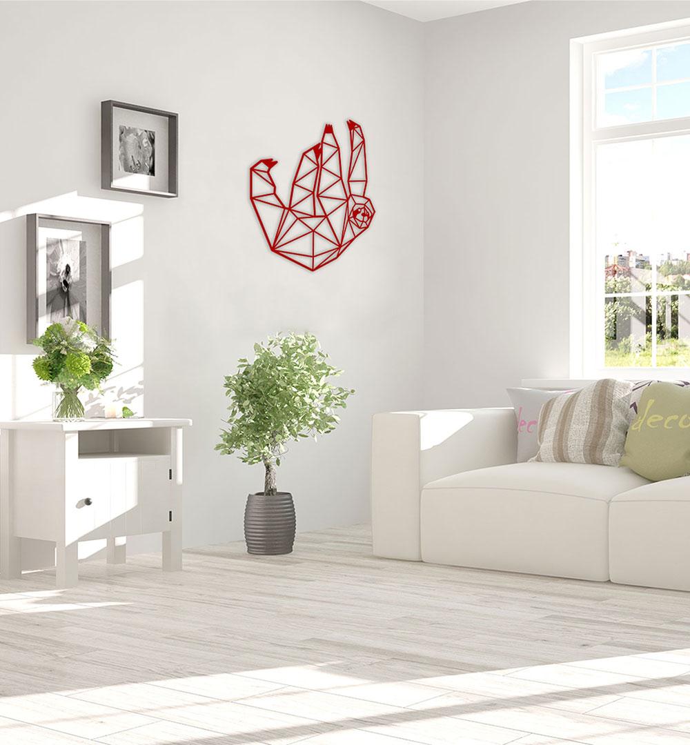 Wall Art Acryl Polygon Sloth