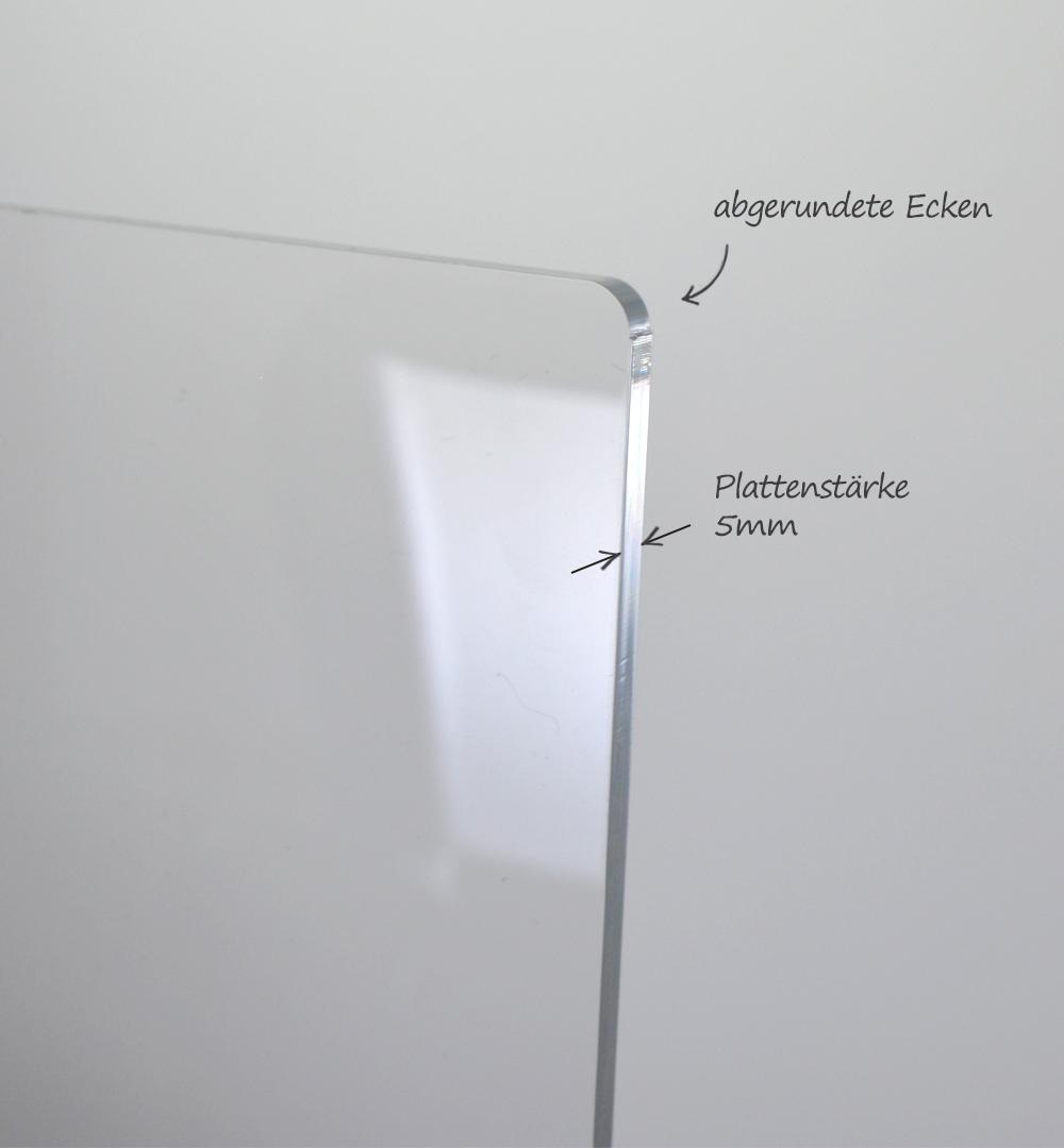 Spuckschutz Groß für Rechtecktheke 60 x  88,5 cm